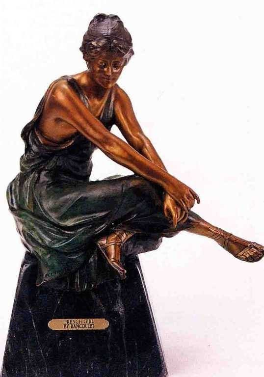 "5: ""French Girl"" Bronze Sculpture - Rancoulet"