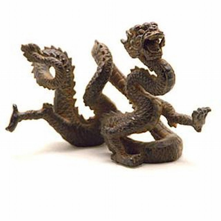 7: ORIENTAL DRAGON BRONZE SCULPTURE