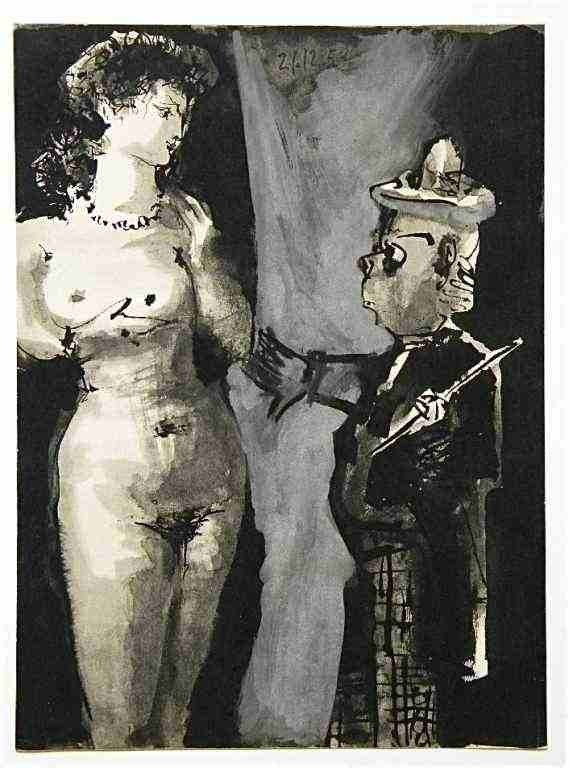 23: Picasso lithograph (Woman and Clown)
