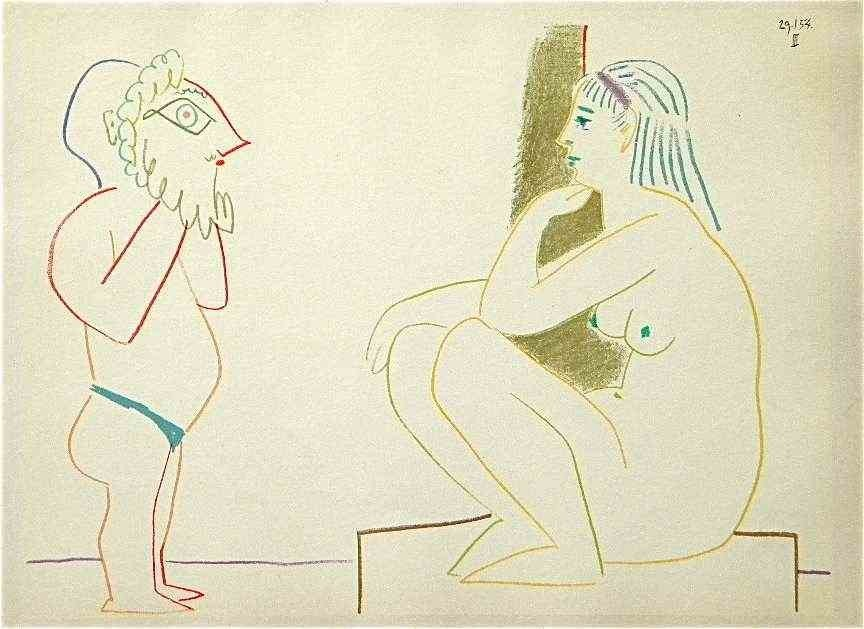 24: Picasso rare color lithograph