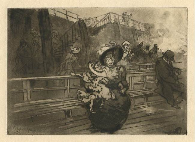 140: Auguste Louis Lepere original etching