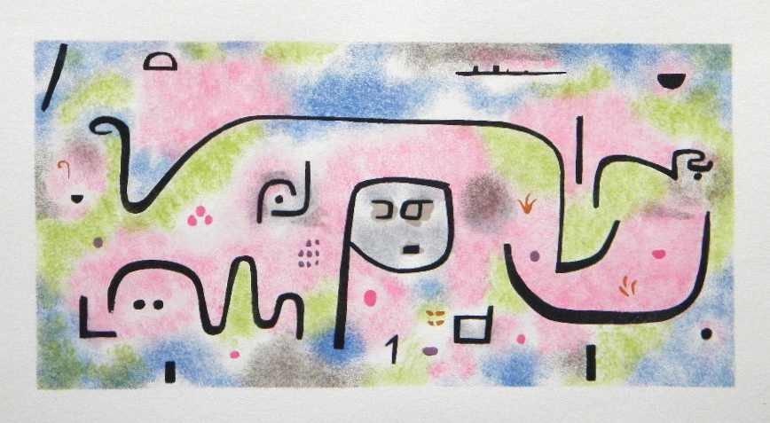"""4: Paul Klee pochoir """"Insula Dulcamara"""""""