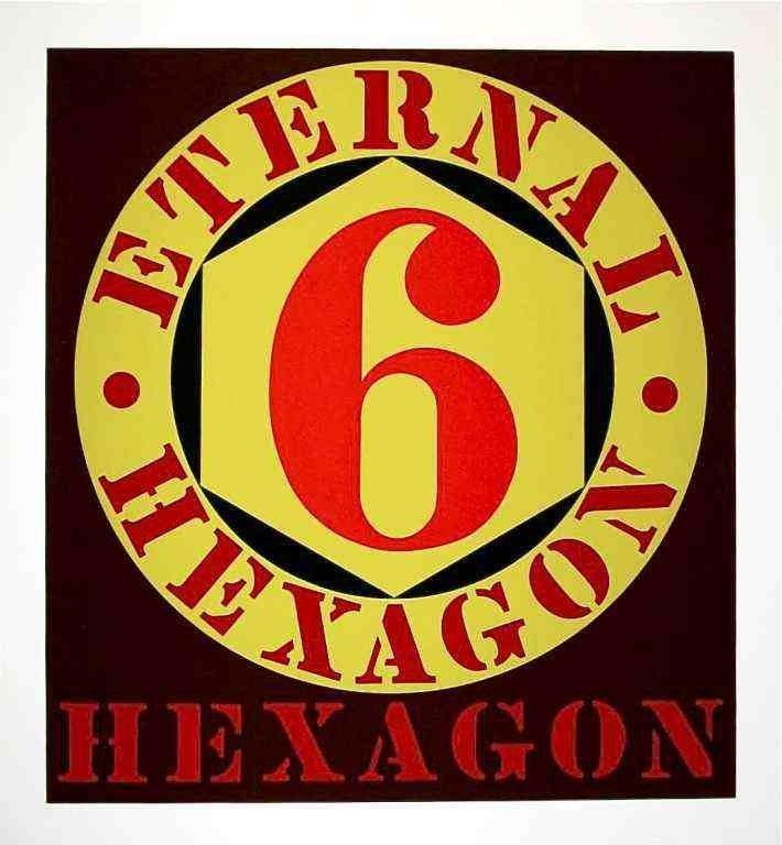 """5: Indiana """"Eternal Hexagon"""" original silkscreen"""