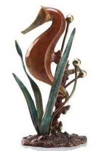 6: Single Seahorse Bronze Sculpture
