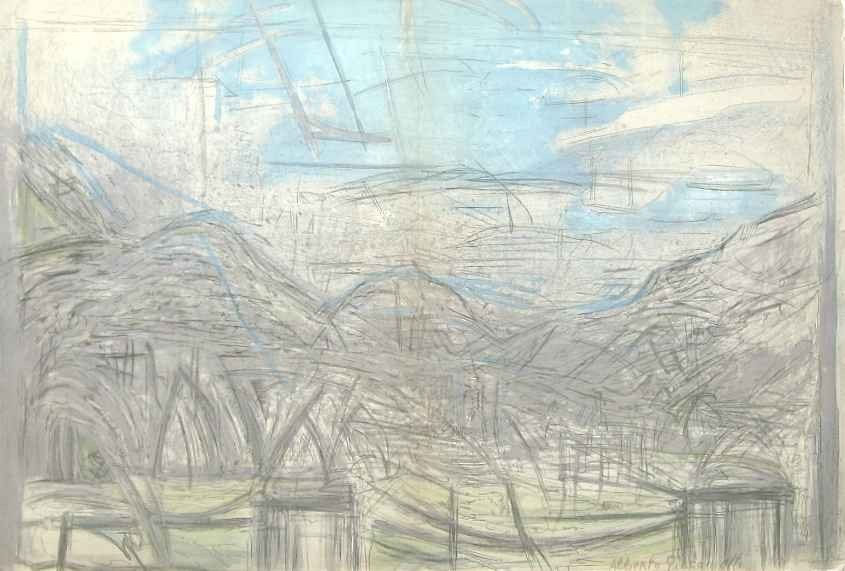 10: Alberto Giacometti lithograph, 1954