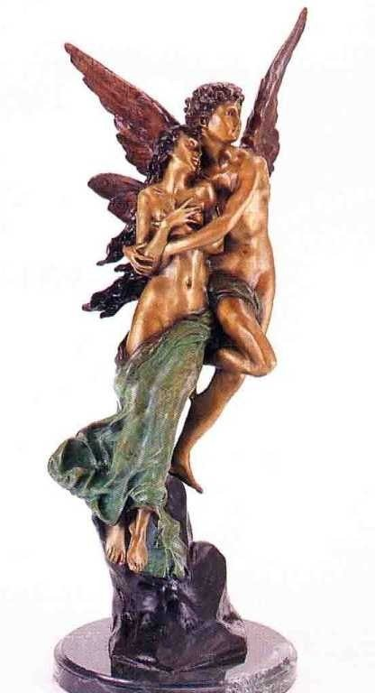 "11: ""Cupid & Psyche"" Bronze Sculpture - Godet"