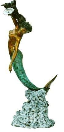 "18: ""Mermaid w/ Shell"" Monumental Bronze Fountain"