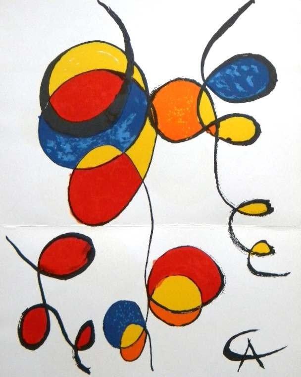 """23: Alexander Calder original lithograph """"Spirals"""""""