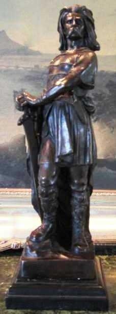 "24: ""FRENCH WARRIOR KING"" - CORDIER - Bronze Sculpture"