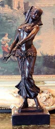 "19: ""BELLY DANCER' Bronze Sculpture"