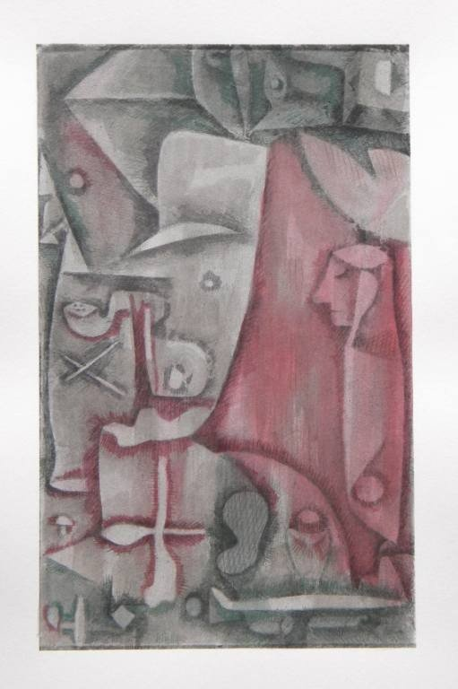 "4: Paul Klee pochoir ""Liberation of the Soul (Abandon)"""