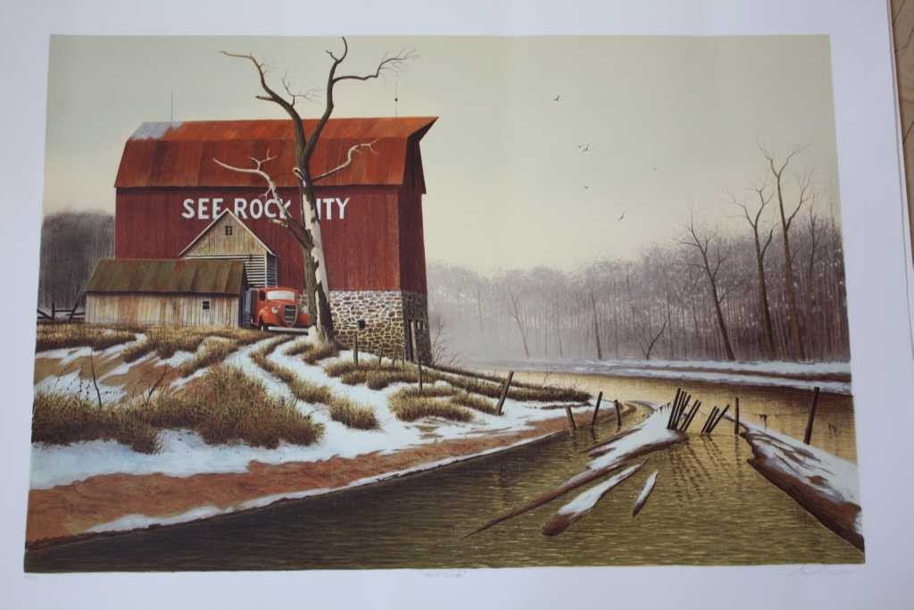 9: SET OF TWO - ORIGINAL LITHOGRAPHS BY WAYNE COOPER