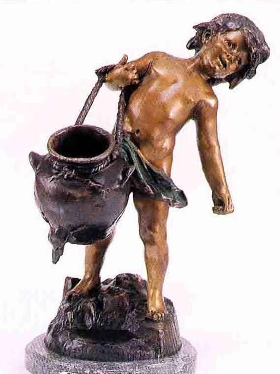 "23: ""Water Bearer"" Bronze Sculpture - A. Moreau"