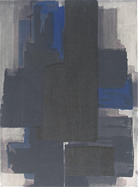 3: Pierre Soulages pochoir, 1956