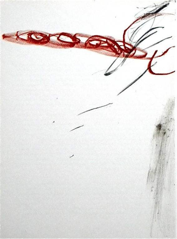 "10: Antoni Tapies original lithograph  ""Tachisme"""