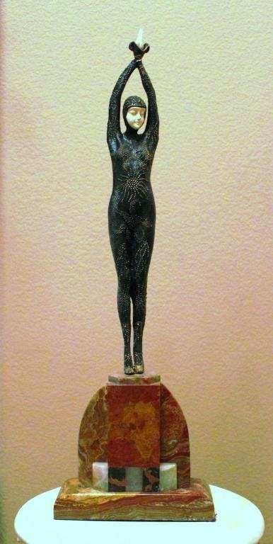 """12: CHIPARUS - """"STARFISH DANCER"""" -BRONZE AND IVORY SCUL"""