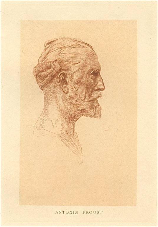"13: Auguste Rodin ""Antonin Proust"" original drypoint"