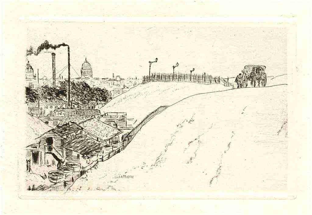 "19: Raffaelli original etching ""La Bievre"""