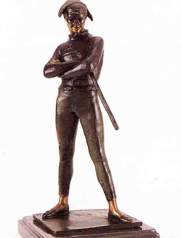 """21: """"Harlequin"""" Bronze Sculpture - Marcenyx"""