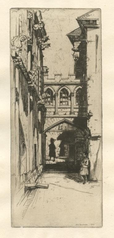 "16: David Young Cameron original etching ""In Stirling C"