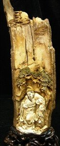 2: MAMMOTH IVORY CARVING - OLD MAN & BOY