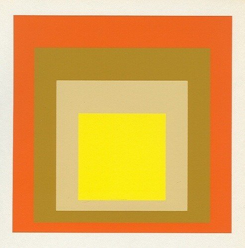 """5: Albers silkscreen """"Homage to the Square"""""""