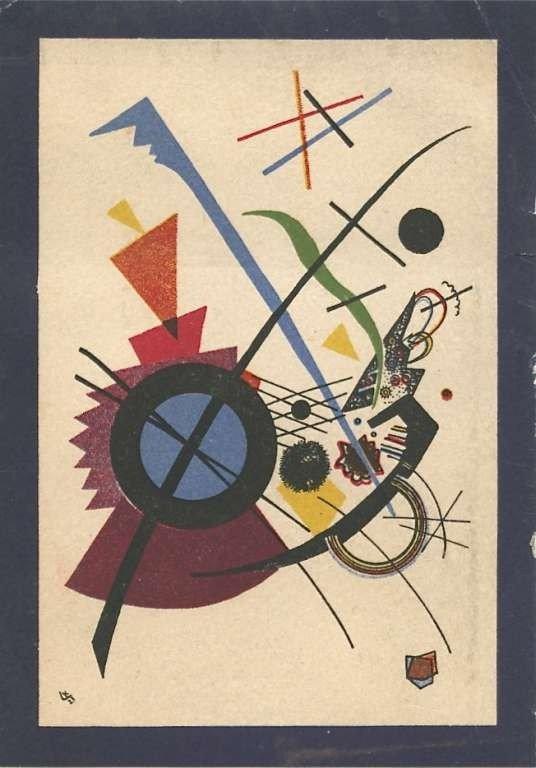 "10: Wassily Kandinsky lithograph ""Violet"""