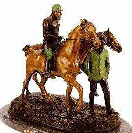 """11: """"Before The Race"""" Bronze Sculpture - De Vains"""
