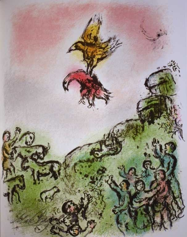 436: MARC CHAGALL HAND SIGNED LITHOGRAPH