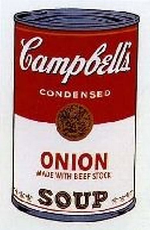 """10A: WARHOL SERIGRAPH """"CAMPBELL'S SOUP CAN"""""""