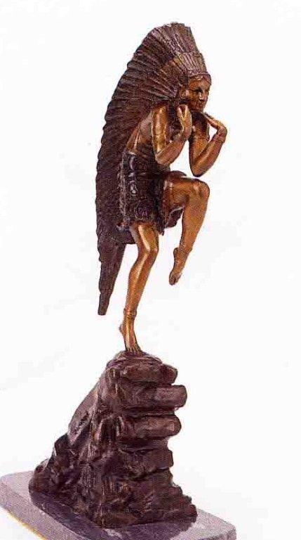 "3: ""Dancing Indian Princess"" Bronze Sculpture - Chiparu"