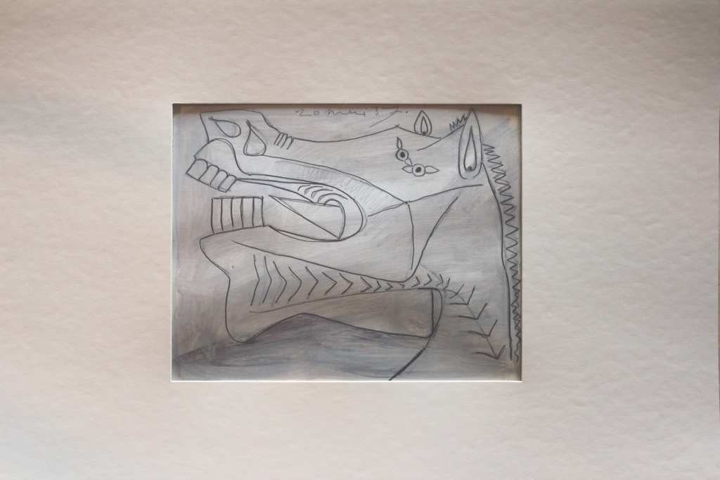 """4: """"STUDY OF GUERNICA"""" - PICASSO - 1937 - MINT"""