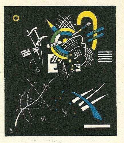 """17: Wassily Kandinsky lithograph """"Kleine Welten VII"""""""