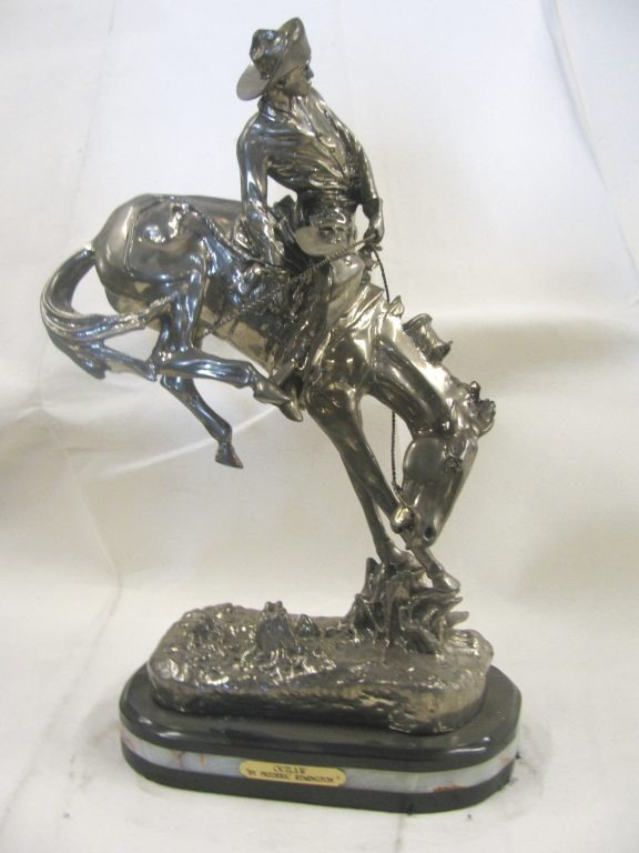 """1A: 22% REAL SILVER """"OUTLAW"""" SCULPTURE"""