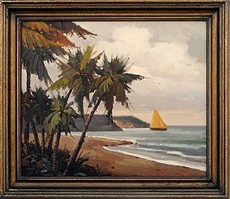 "19: ""ISLAND BEACH"" - ORIGINAL OIL ON CANVAS"