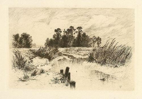 "20: MORAN ""PASSAIC MEADOWS"" ORIGINAL ETCHING"