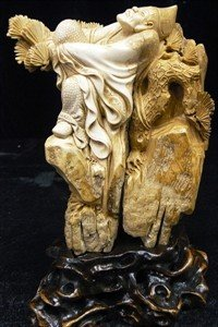 52: MAMMOTH IVORY CARVING - MONK