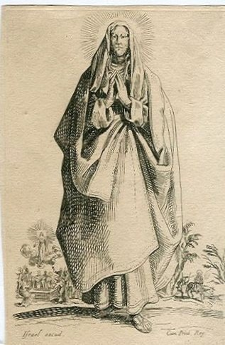 "57: JACQUES CALLOT ""THE VIRGIN MARY"" ETCHING"