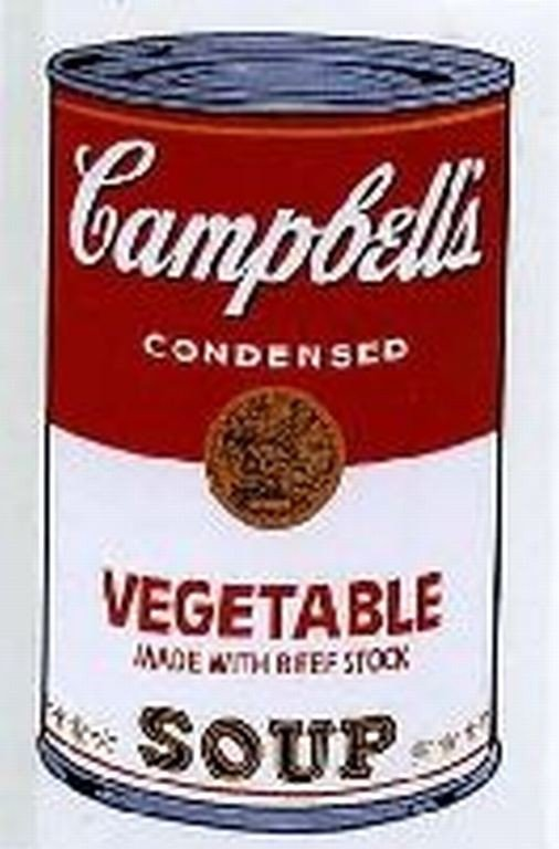 "71: WARHOL SERIGRAPH ""CAMPBELL'S SOUP CAN"""