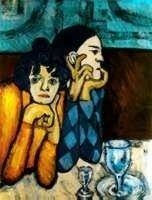 """12A: PICASSO """"HARLEQUIN AND HIS COMPANION"""""""