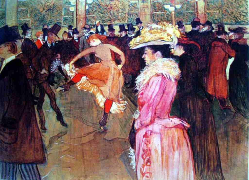 """9: TOULOUSE LAUTREC """"AT THE MOULIN ROUGE II"""""""