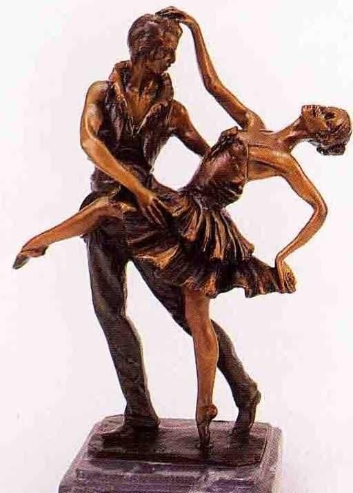 """16: """"DANCERS"""" BRONZE SCULPTURE INSPIRED - ICART"""
