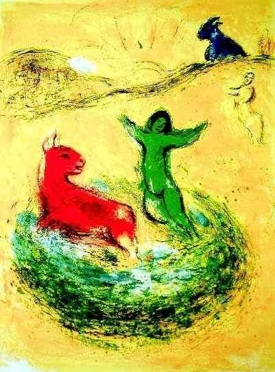 """2A: MARC CHAGALL """"WOLF PIT"""""""