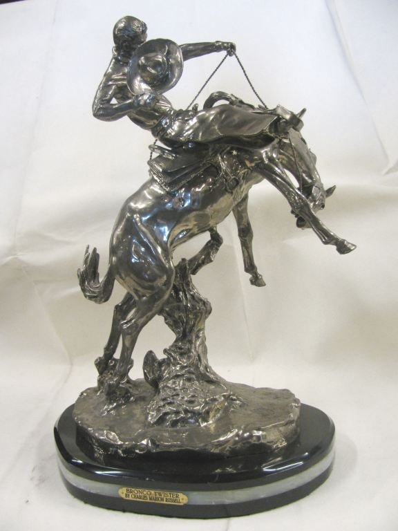 """7: 22% REAL SILVER """"WICKED PONY"""" SCULPTURE"""