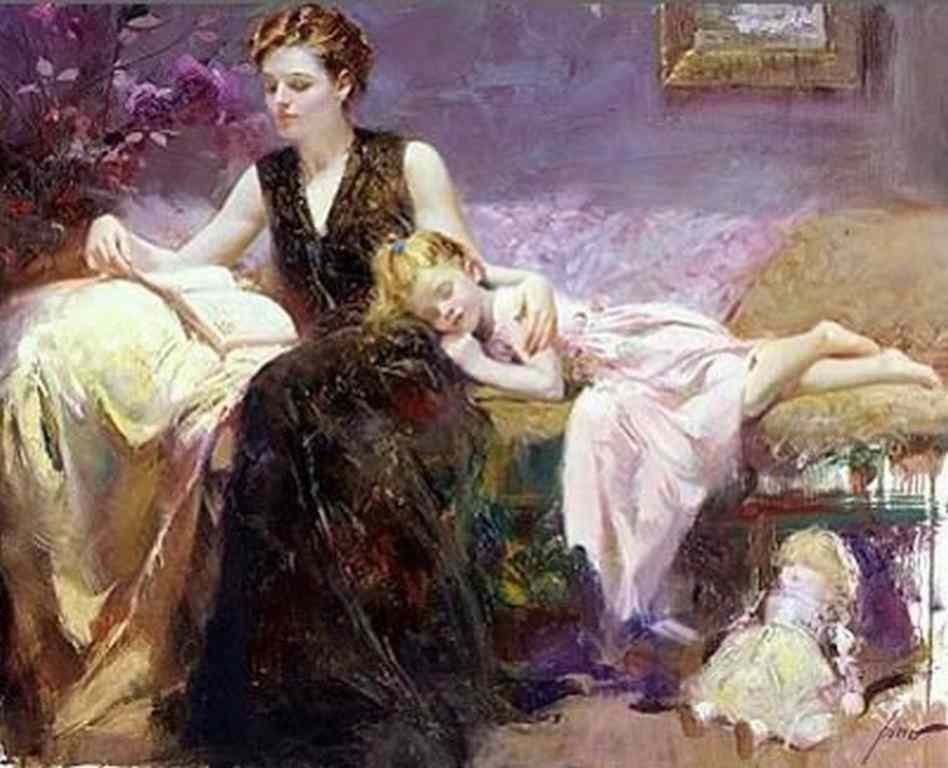 "1: PINO HAND SIGNED GICLEE ON CANVAS ""PRECIOUS MOMENTS"""