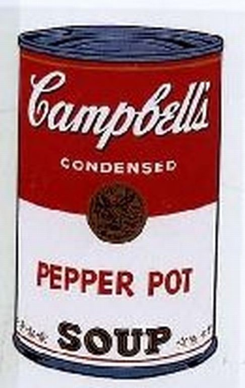 """3: WARHOL SERIGRAPH """"CAMPBELL'S SOUP CAN"""""""