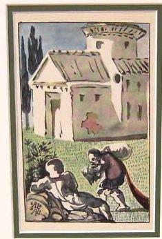 35: DALI ANTIQUE LITHOGRAPH (1945)
