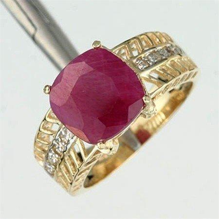 43: 3.0 CTW. RUBY & DIAMOND RING - 10KY GOLD