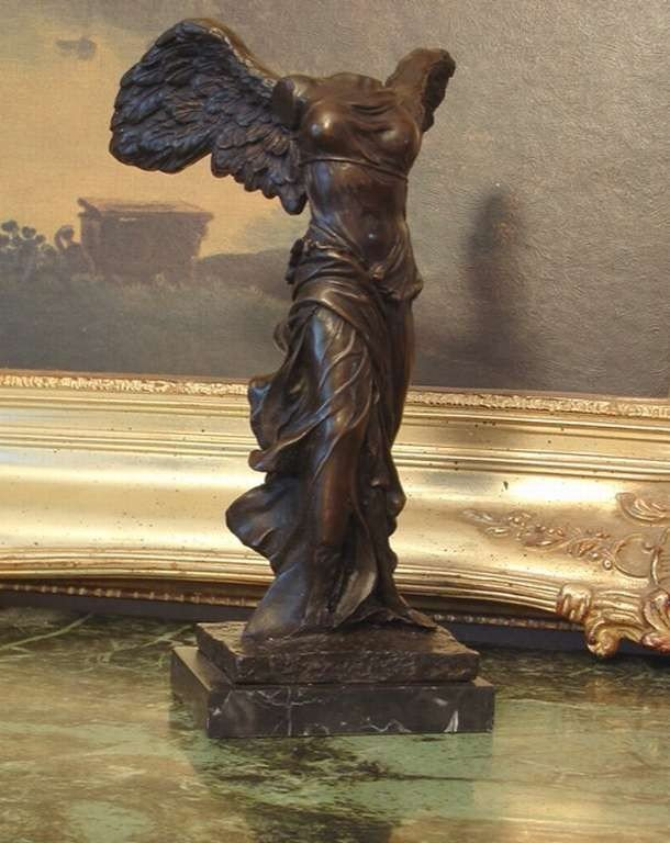 """45: """"WINGED VICTORY OF SAMOTHRACE"""" BRONZE SCULPTURE"""