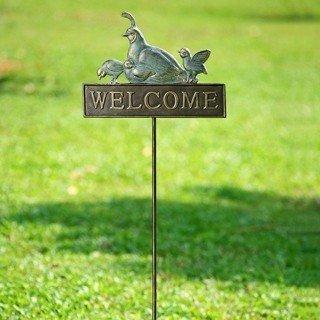 11: QUAIL GARDEN WELCOME SIGN